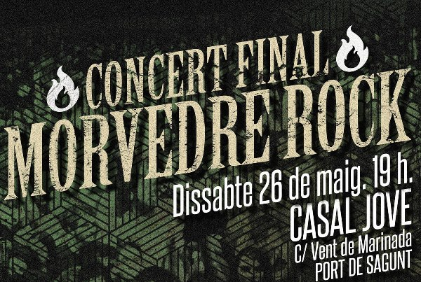 MORVEDRE ROCK. Concert Final