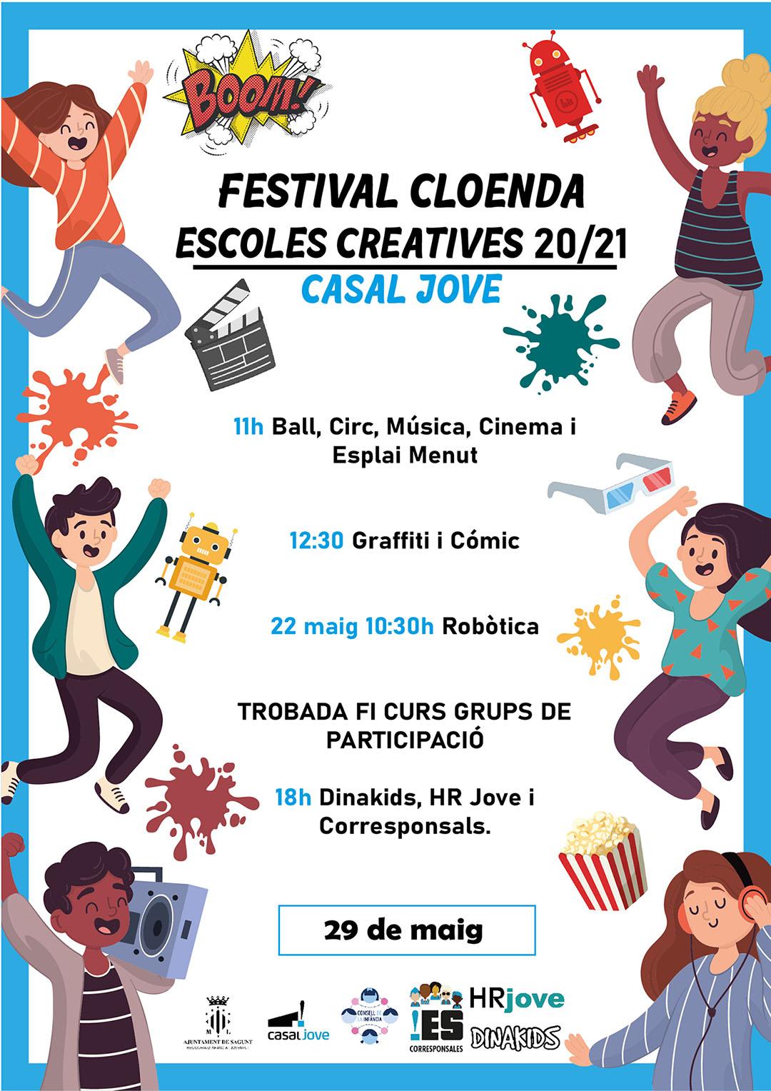 Cartell Cloenda Escoles Creatives 20/21